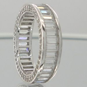 Victoria Wieck Channel Set Baguette Sterling Ring